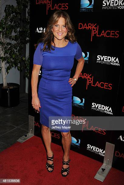 Producer Cathy Schulman arrives at the Premiere Of DIRECTV's 'Dark Places' at Harmony Gold Theatre on July 21 2015 in Los Angeles California