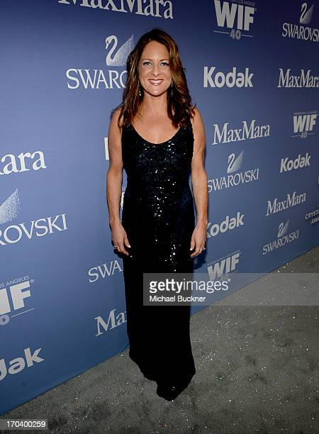 Producer Cathy Schulman attends Women In Film's 2013 Crystal Lucy Awards at The Beverly Hilton Hotel on June 12 2013 in Beverly Hills California
