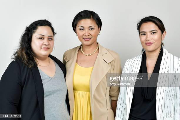 Producer Cecilia Mejia actress Princess Punzalan and director/writer Diane Paragas from 'Yellow Rose' are photographed at the Los Angeles Asian...