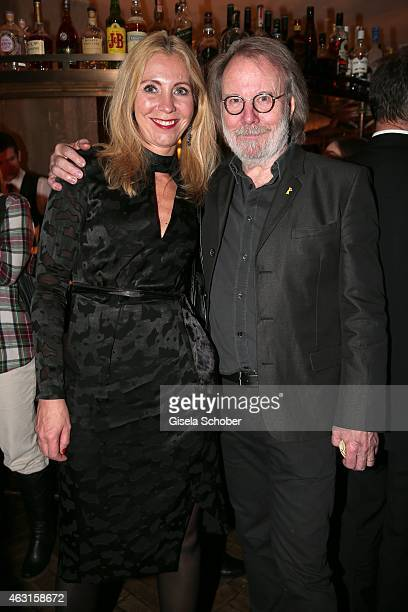 Producer Cecilia Norman Mardell Benny Andersson Founder of ABBA during 'The Circle' After Show Cocktail 65th Berlinale International Film Festival on...