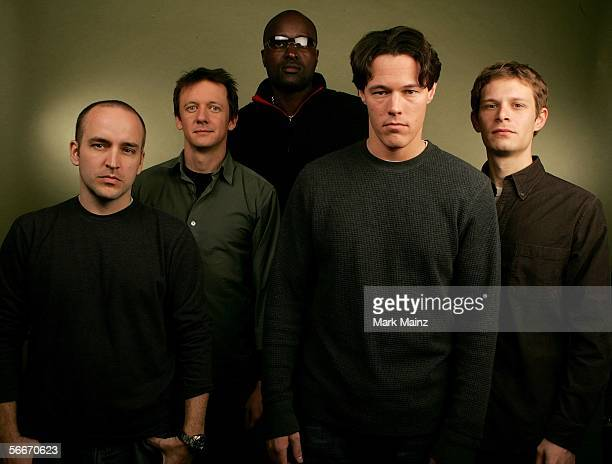 Producer Chad Eikhoff actors Cory Rouse Pancho Hodges director Gregg Bishop and actor Nathan Mobley of the film The Other Side poses for a portrait...