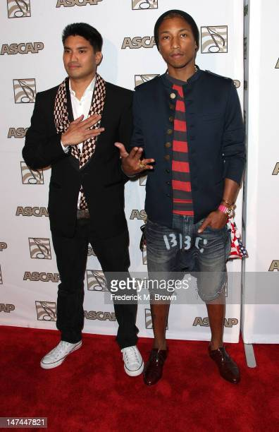 Producer Chad Hugo recording artist Pharrell attend ASCAP Rhythm Soul Music Awards at The Beverly Hilton Hotel on June 29 2012 in Beverly Hills...