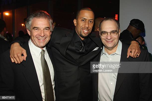 Producer Charles Castaldi actor Affion Crockett and producer Bob Weinstein attend the after party for the world premiere of Soul Men at The Hip Hop...