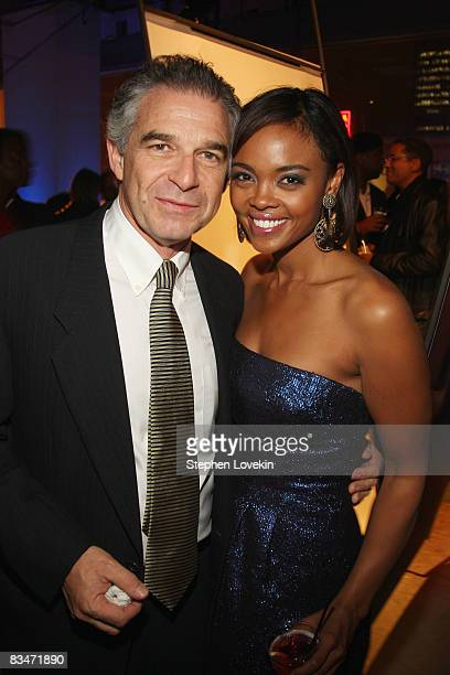 Producer Charles Castaldi and actress Sharon Leal attend the after party for the world premiere of Soul Men at The Hip Hop Cultural Center on October...
