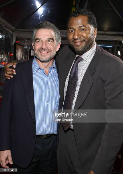 Producer Charles Castaldi and Director Malcolm D Lee arrive to the premiere of Welcome Home Roscoe Jenkins at Grauman's Chinese Theatre on January 18...