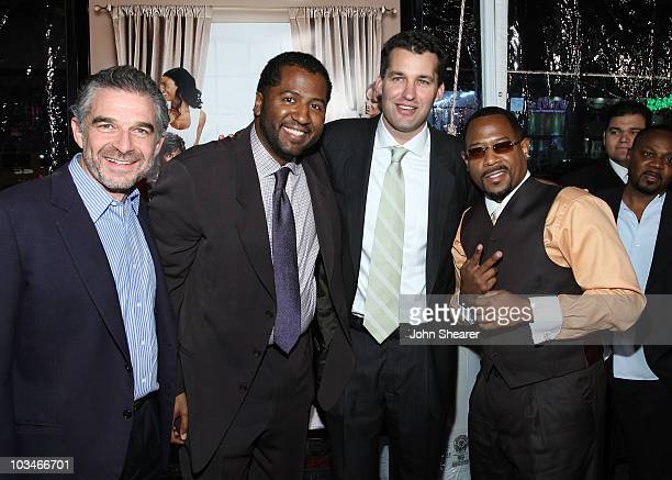 Producer Charles Castaldi director Malcolm D Lee producer Scott Stuber and actor Martin Lawrence arrive to the premiere of Welcome Home Roscoe...