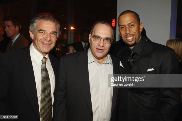 Producer Charles Castaldi producer Bob Weinstein and actor Affion Crockett attend the after party for the world premiere of Soul Men at The Hip Hop...