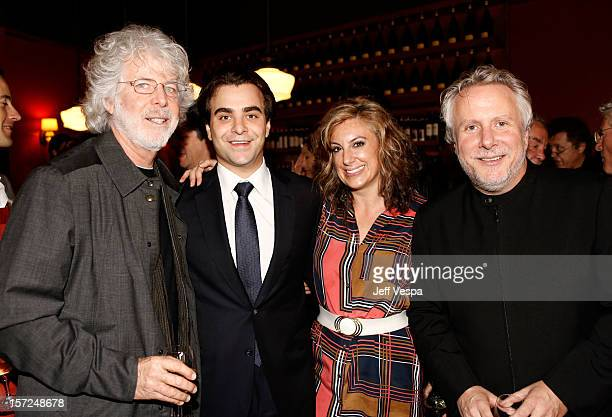 Producer Charles Shyer Director Nicholas Jarecki Writer Kirsten Smith and Screenwriter Larry Karaszewski attend the Arbitrage Luncheon at Osteria...