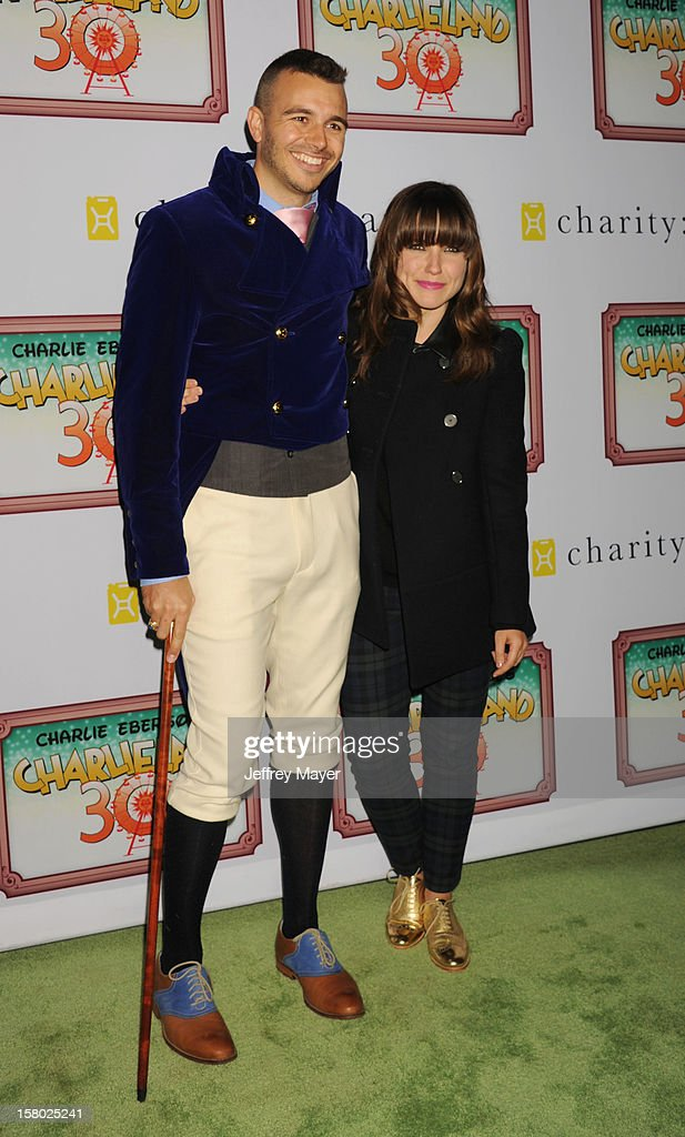 Producer Charlie Ebersol and actress Sophia Bush attend Charlie Ebersol's 'Charlieland' Birthday Party And Charity: Water Fundraiser on December 8, 2012 in Los Angeles, California.