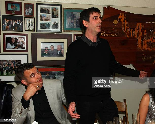 Producer Charlie Ebersol and CEO of AAM Mark Beaven attend the Friends N Family Dinner at The Jack Warner Estate on February 10 2011 in Los Angeles...