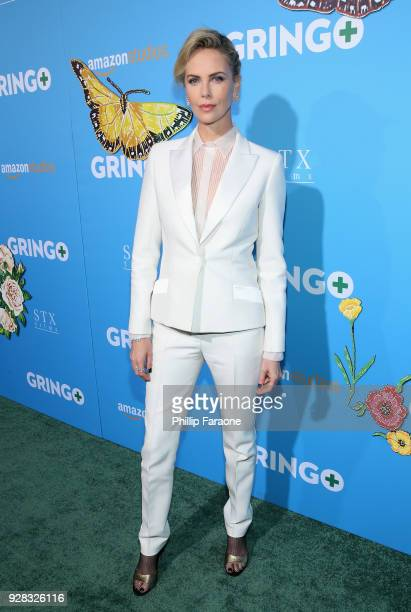 Producer Charlize Theron attends the world premiere of 'Gringo' from Amazon Studios and STX Films at Regal LA Live Stadium 14 on March 6 2018 in Los...