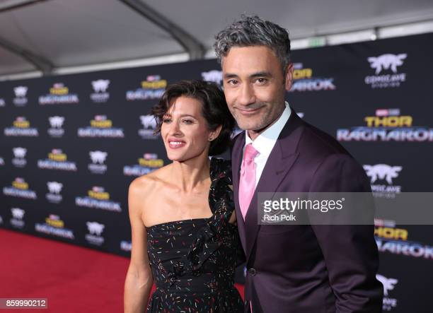 Producer Chelsea Winstanley and director Taika Waititi at The World Premiere of Marvel Studios' Thor Ragnarok at the El Capitan Theatre on October 10...