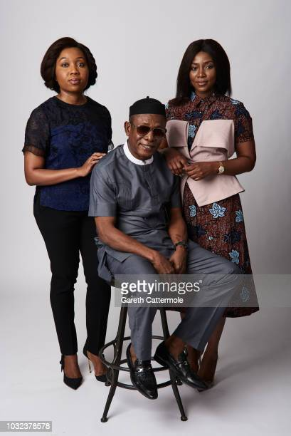Producer Chinny Onwugbenu actor Nkem Owoh and filmmaker Genevieve Nnaji from the film 'Lionheart' pose for a portrait during the 2018 Toronto...
