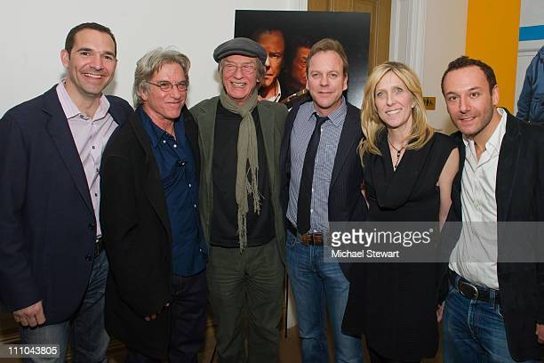 Producer Chip Russo director Brad Mirman actor John Hurt actor Kiefer Sutherland producer Maura Mandt and producer Chip Young attend The Confession...
