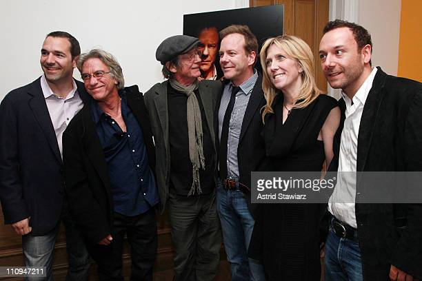 Producer Chip Russo director Brad Mirman actors John Hurt Kiefer Sutherland producers Maura Mandt and Chris Young attend The Confession screening at...