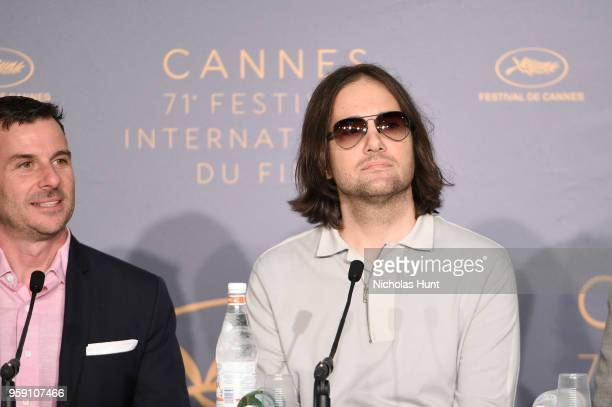 Producer Chris Bender and director David Robert Mitchell attends 'Under The Silver Lake' Press Conference during the 71st annual Cannes Film Festival...