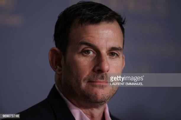 US producer Chris Bender attends a press conference on May 16 2018 for the film 'Under the Silver Lake' at the 71st edition of the Cannes Film...