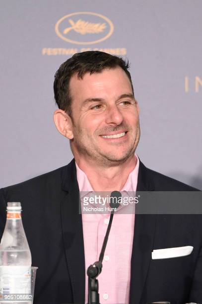 Producer Chris Bender attends 'Under The Silver Lake' Press Conference during the 71st annual Cannes Film Festival at Palais des Festivals on May 16...