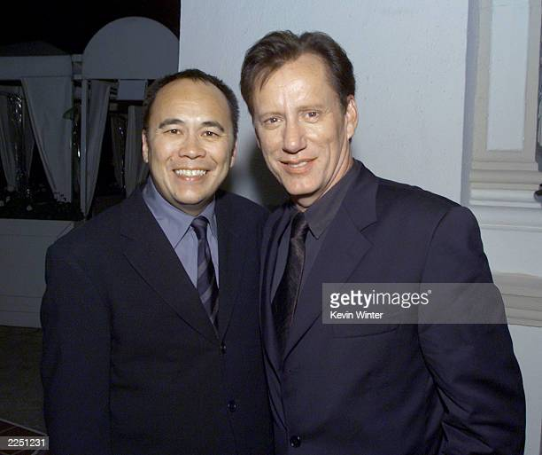 Producer Chris Lee and James Woods at the premiere of 'Final Fantasy: The Spirits Within' at the Bruin Theater in Los Angeles, Ca. 7/2/01. Photo by...