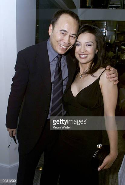 Producer Chris Lee and Ming Na at the premiere of 'Final Fantasy: The Spirits Within' at the Bruin Theater in Los Angeles, Ca. 7/2/01. Photo by Kevin...