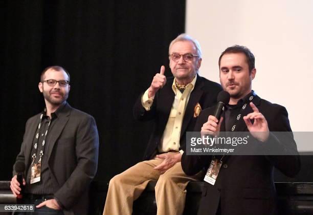 Producer Chris May director/subject John G Avildsen and director Derek Wayne Johnson speak onstage at a screening of 'John G Avildsen King of the...