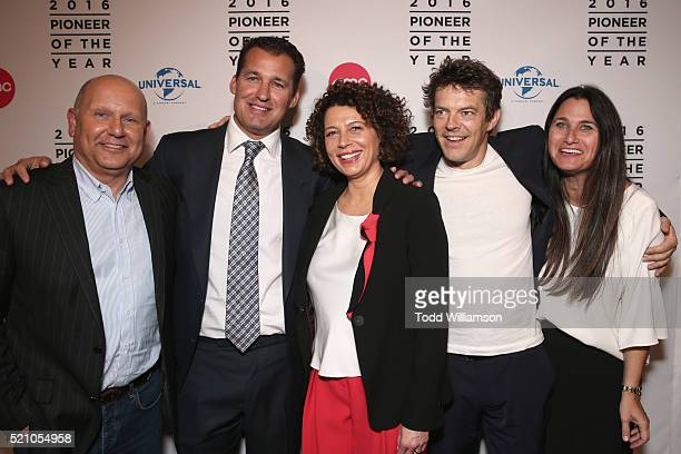 Producer Chris Meledandri producer Scott Stuber Universal Pictures Chairman Donna Langley producer Jason Blum and producer Liza Chasin attend the...