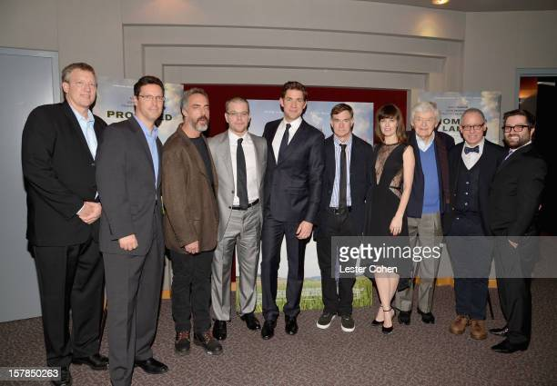 Producer Chris Moore President of Focus Features Andrew Karpen actor Titus Welliver actor Matt Damon actor John Krasinski director Gus Van Sant...