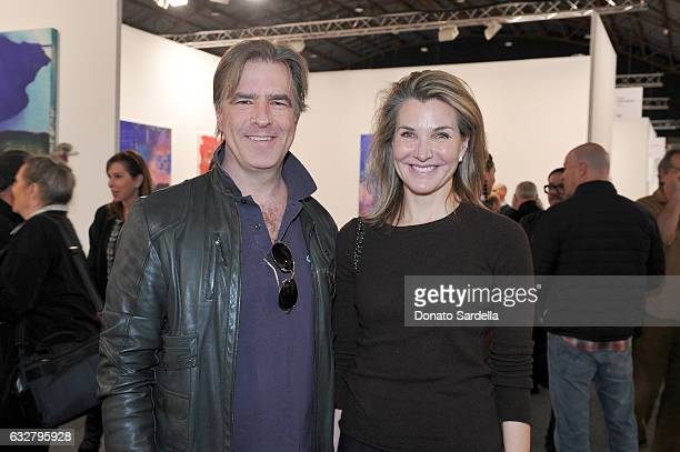 Producer Christian McLaughlin and Eliza Osborne attend the Art Los Angeles Contemporary 2017 opening night at Barker Hangar on January 26 2017 in...