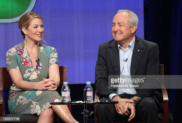 Producer Christina Applegate and Executive Producer Lorne Michaels speak during the 'Up All Night' panel during the NBC Universal portion of the 2011...