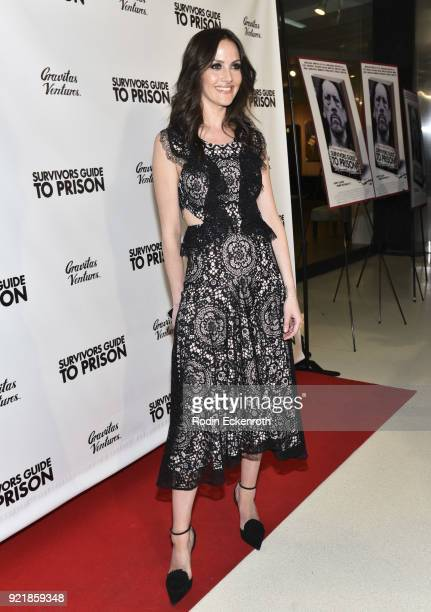 Producer Christina Arquette attends the premiere of Gravitas Pictures' 'Survivors Guide To Prison' at The Landmark on February 20 2018 in Los Angeles...
