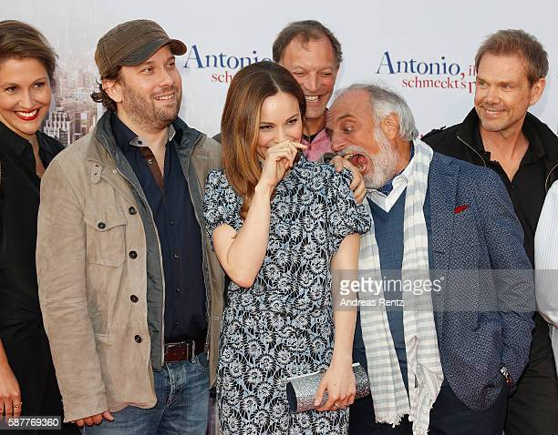 Producer Christina Christ Christian Ulmen Mina Tander producer Ronald Mühlfellner Alessandro Bressanello and director Sven Unterwald attend the...