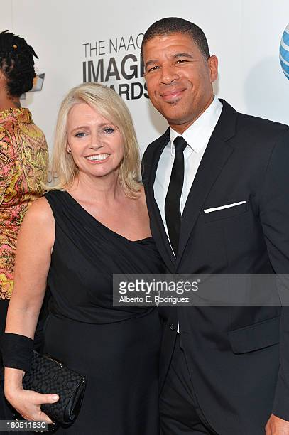 Producer Christina Steinberg and Director Peter Ramsey attend the 44th NAACP Image Awards at The Shrine Auditorium on February 1 2013 in Los Angeles...