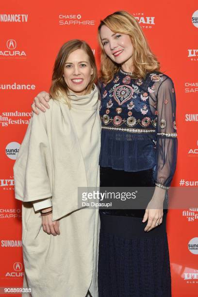 Producer Christine Beebe and director Amy Scott attend the 'Hal' Premiere during the 2018 Sundance Film Festival at The Marc Theatre on January 22...