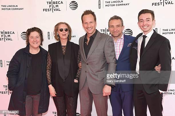 Producer Christine Vachon producer/writer Susan Boyd actors Patrick Wilson Eddie Marsan and Radek Lord attend 'A Kind of Murder' premiere during 2016...