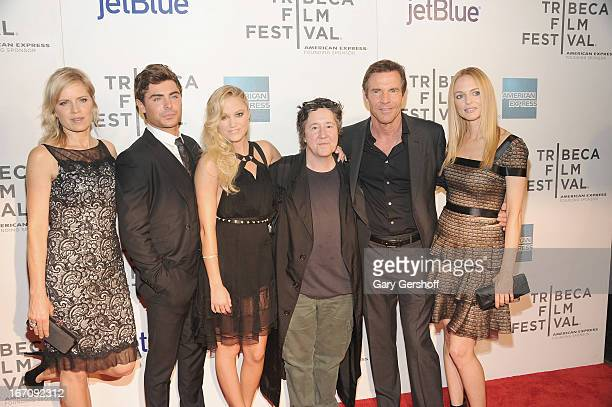 Producer Christine Vachon with actors Kim Dickens Zac Efron Maika Monroe Dennis Quaid and Heather Graham attend the screening of 'At Any Price'...