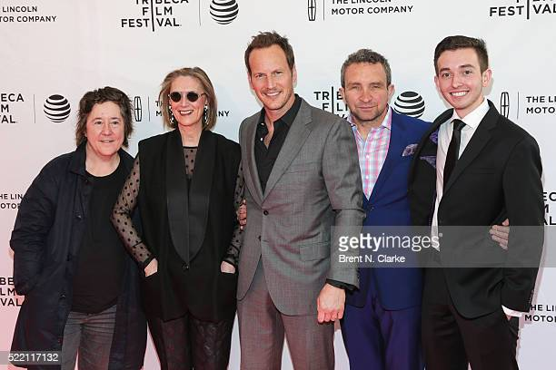 Producer Christine Vachon writer/producer Susan Boyd actors Patrick Wilson Eddie Marsan and Radek Lord attend the world premiere of 'A Kind of...