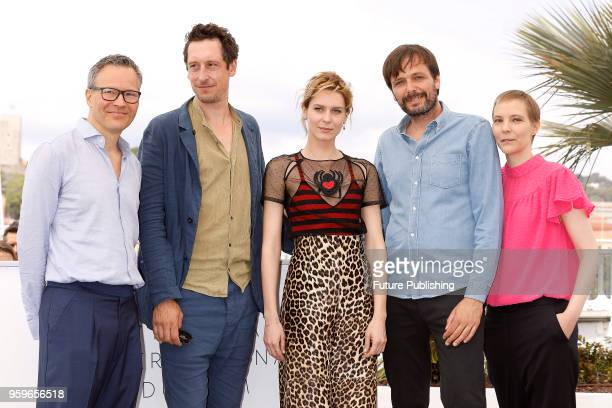 Producer Christoph Friedel actor Hans Loew actress Elena Radonicich director Ulrich Koehler and producer Claudia Steffen at the 'In My Room'...