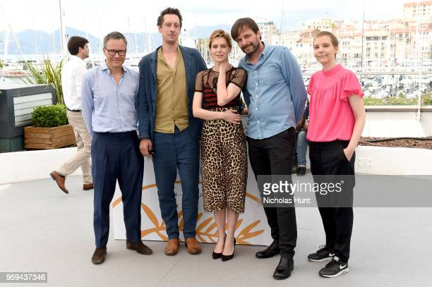 Producer Christoph Friedel actor Hans Low actress Elena Radonicich director Ulrich Kohler and producer Claudia Steffen attend the 'In My Room'...