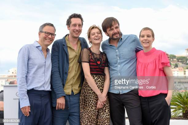 Producer Christoph Friedel actor Hans Low actress Elena Radonicich director Ulrich Kohler and producer Claudia Steffen attend 'In My Room' Photocall...