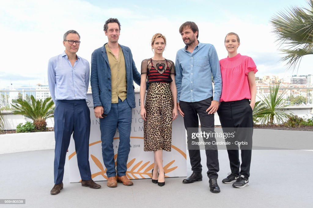 Producer Christoph Friedel, actor Hans Low, actress Elena Radonicich, director Ulrich Kohler and producer Claudia Steffen attend 'In My Room' Photocall during the 71st annual Cannes Film Festival at Palais des Festivals on May 17, 2018 in Cannes, France.