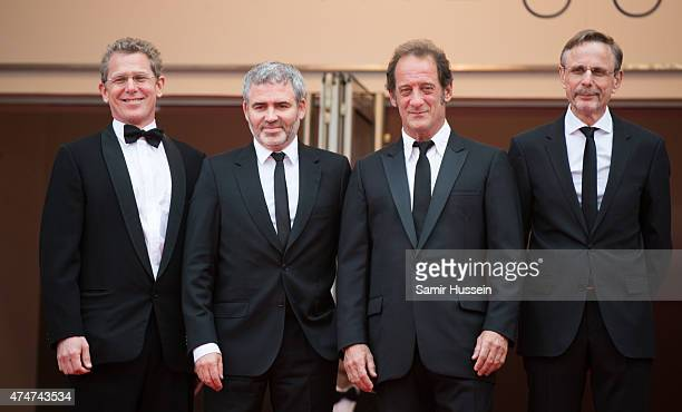 Producer Christophe Rossignon Director Stephane Brize Actor vincent Lindon and Producer Philip Boffard attend the closing ceremony and 'Le Glace Et...