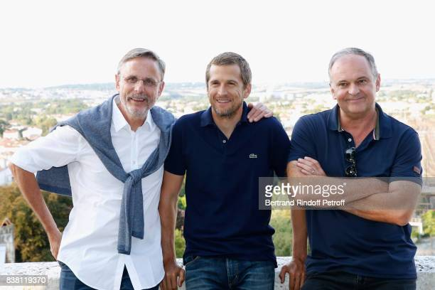Producer Christophe Roussillon actor Guillaume Canet and director Christian Carion attend the 10th Angouleme FrenchSpeaking Film Festival Day Two on...
