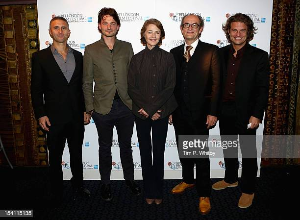 Producer Christopher Simon director Barnaby Southcombe actress Charlotte Rampling actor Ralph Brown and producer Felix Vossen attend the I Anna...