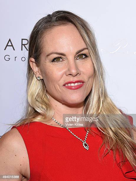 Producer Christy Oldham attends the Pia Gladys Perey Spring/Summer 2016 Fashion Show at Sofitel Hotel on October 23 2015 in Los Angeles California