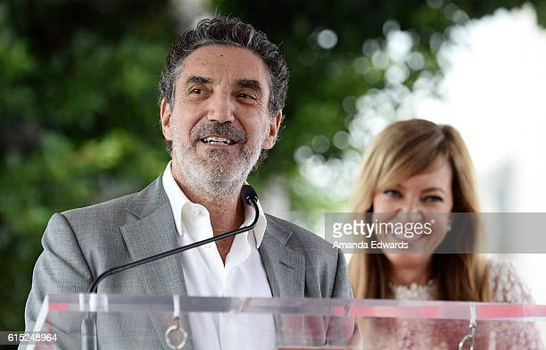 Producer Chuck Lorre and actress Allison Janney attend Janney's Star ceremony on The Hollywood Walk of Fame on October 17 2016 in Hollywood California