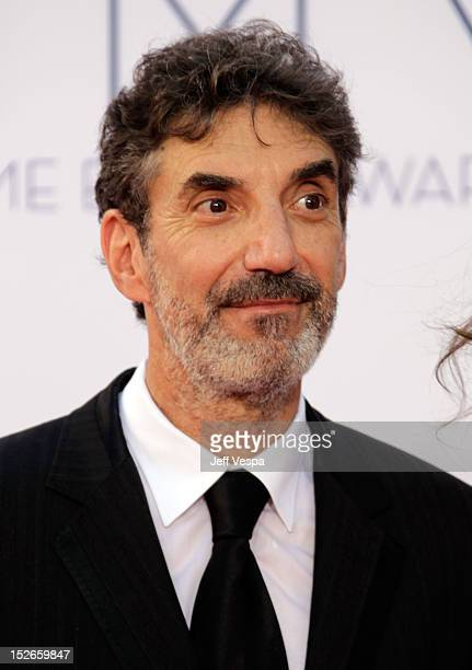Producer Chuck Lorre arrives at the 64th Primetime Emmy Awards at Nokia Theatre LA Live on September 23 2012 in Los Angeles California