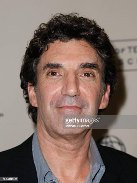 Producer Chuck Lorre arrives at the Evening with 'Two And A Half Men' at the Leonard Goldenson Theater on February 27 2008 in North Hollywood...