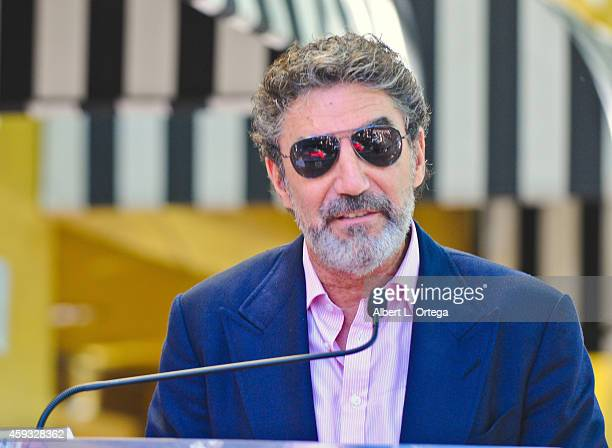 Producer Chuck Lorre at The Hollywood Walk Of Fame ceremony for Kaley Cuoco on October 29 2014 in Hollywood California
