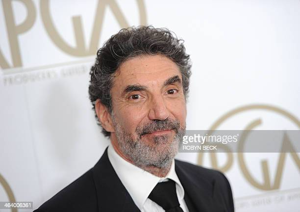 Producer Chuck Lorre attends the 25th annual Producers Guild of America Awards California January 19 2014 at the Beverly Hilton Hotel in Beverly...