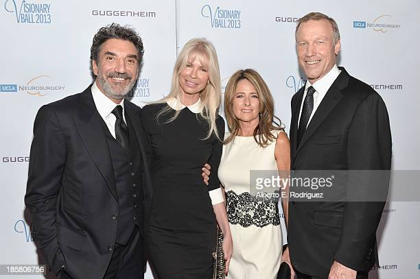 Producer Chuck Lorre guest Colleen Martin and Dr Neil Martin arrive to the 2013 UCLA Neurosurgery Visionary Ball at the Beverly Wilshire Four Seasons...